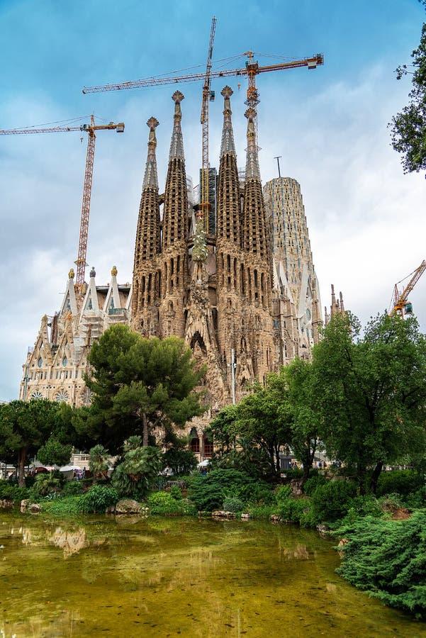 La cathédrale de la La Sagrada Familia par l'architecte Antonio Gaudi, Catalogne, Barcelone Espagne - 13 mai 2018 photos stock