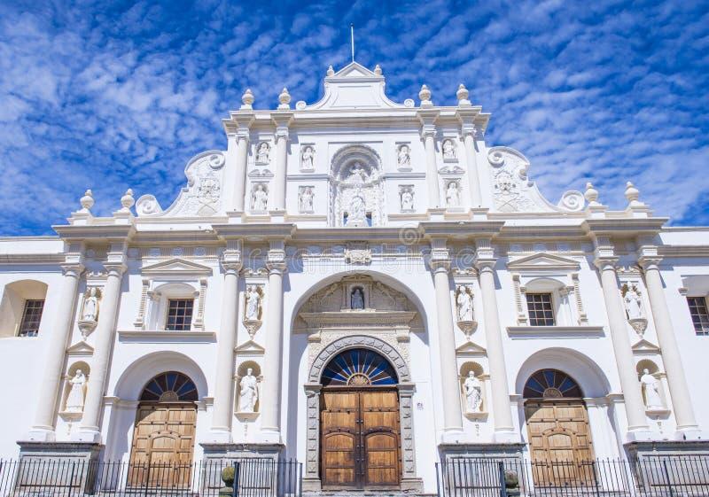 La cathédrale de Santiago à l'Antigua photographie stock