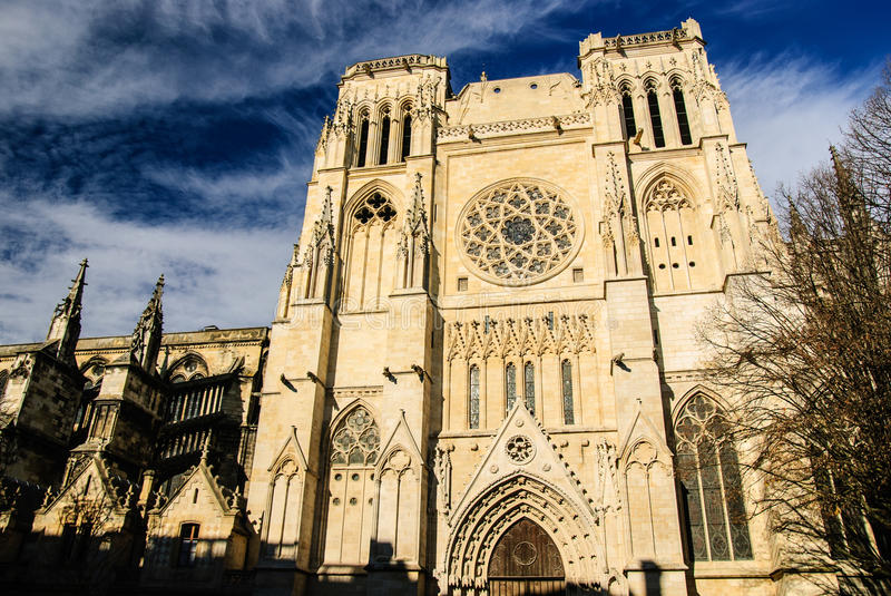 La cathédrale de St Andrew, Bordeaux, France image stock
