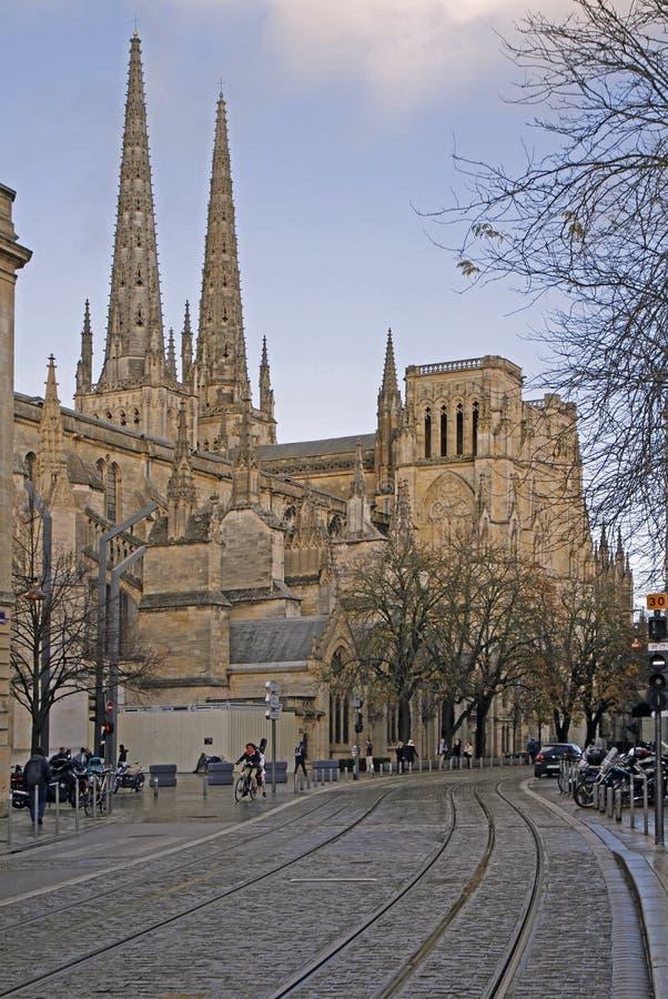 La cathédrale de St Andrew en Bordeaux photos stock