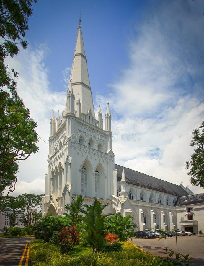 La cathédrale de St Andrew, Singapour photos libres de droits