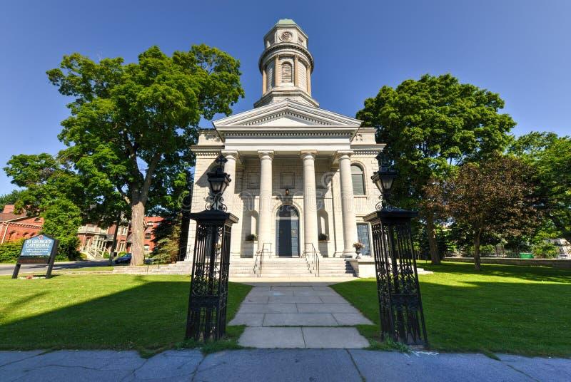 La cathédrale de St George, Kingston, Ontario, Canada photographie stock libre de droits