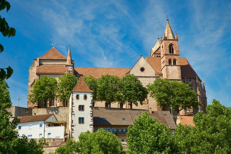 La cathédrale de Stephans dans Breisach image libre de droits