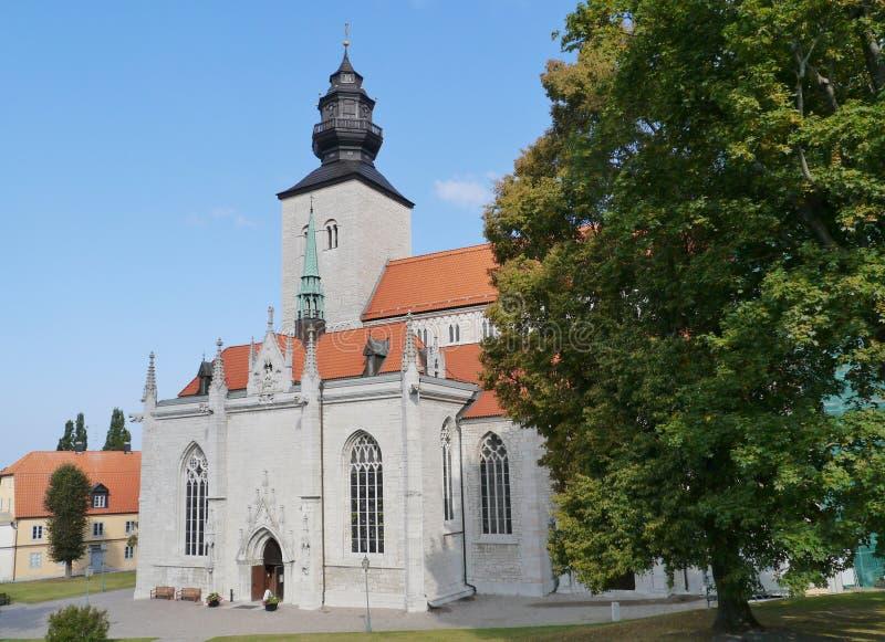 La cathédrale de Visby image libre de droits
