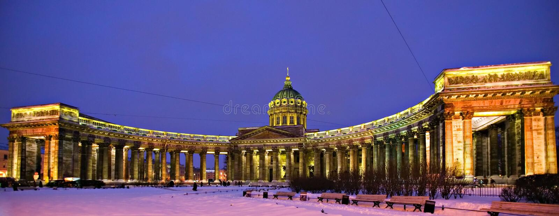 La cathédrale du graphisme de Kazan de la mère de Dieu image stock