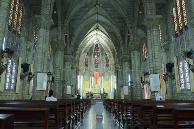 La cathédrale du ` s de roi dans le trang de nha, Vietnam photographie stock