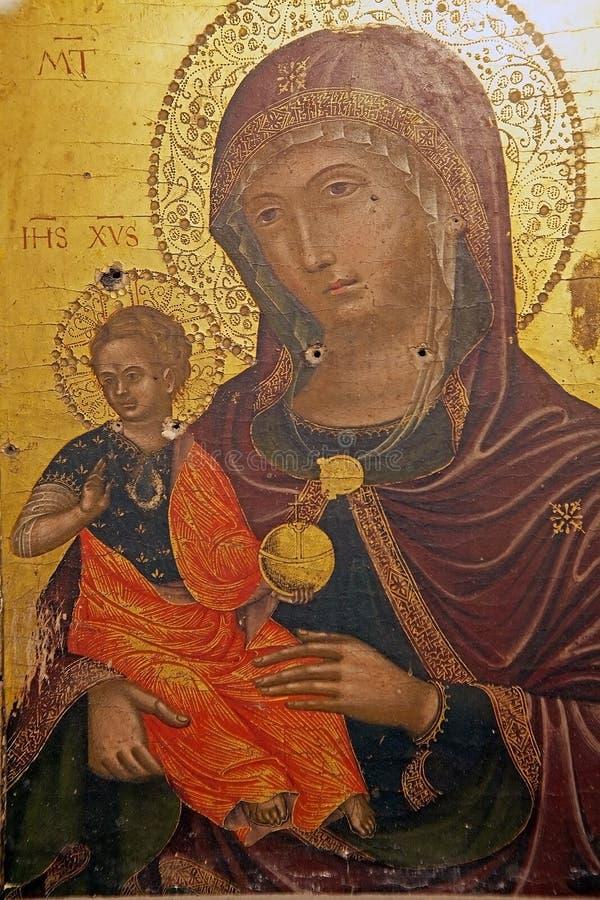 La cathédrale du saint Rufino, Assisi, Italie photographie stock libre de droits