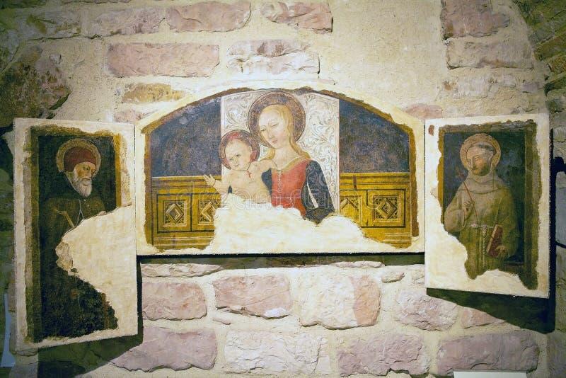 La cathédrale du saint Rufino, Assisi, Italie photo stock