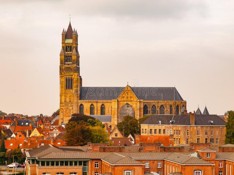La cathédrale du sauveur de saint à Bruges photographie stock libre de droits