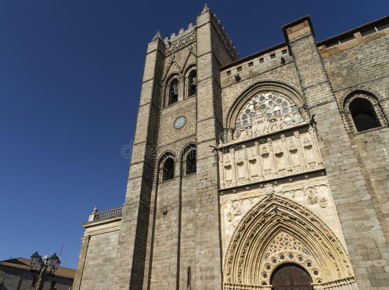 La cathédrale gothique d'Avila en Espagne image libre de droits