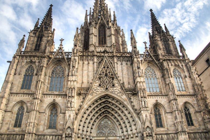La cathédrale gothique de Barcelone image stock