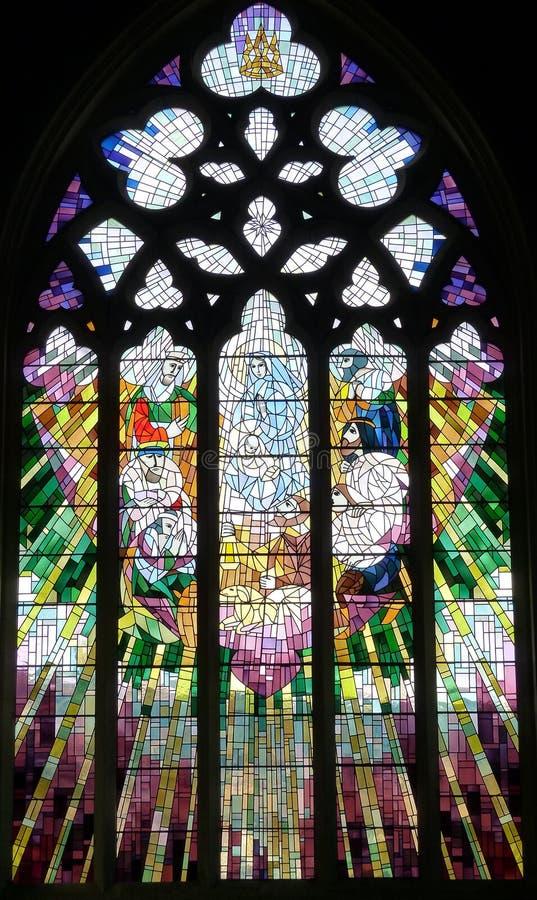 La cathédrale Hobart, Tasmanie de St David de fenêtre d'église photographie stock libre de droits