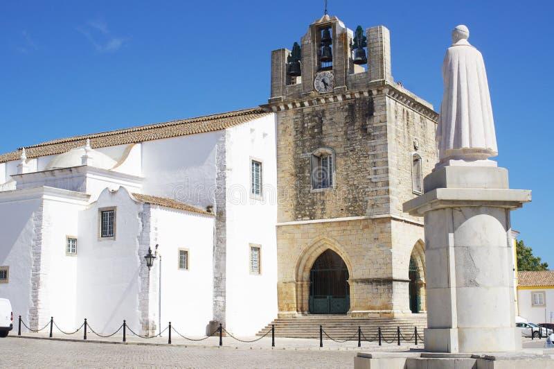 La cathédrale médiévale à Faro images libres de droits