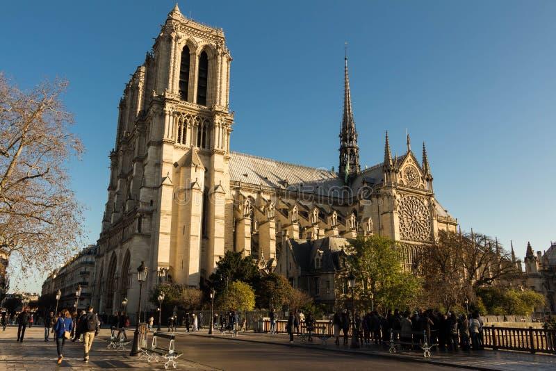 La cathédrale Notre Dame, Paris, France photographie stock