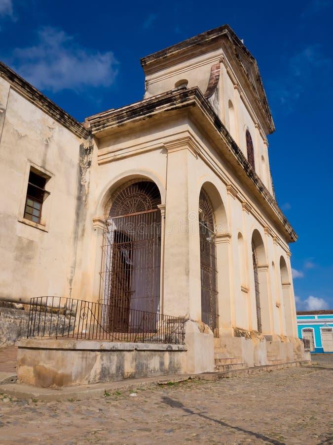 La cathédrale sur la ville du Trinidad au Cuba photo libre de droits