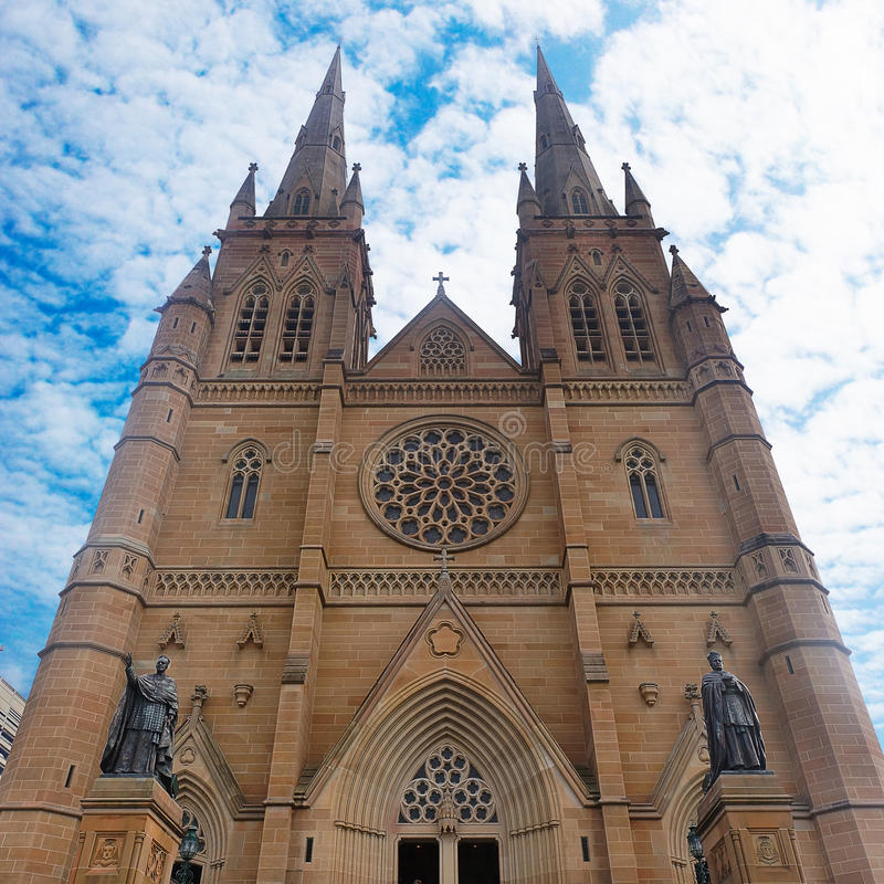 La cathédrale Sydney de St Mary image stock