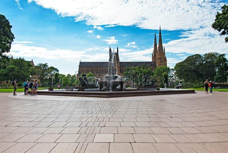 La cathédrale Sydney de St Mary photos libres de droits