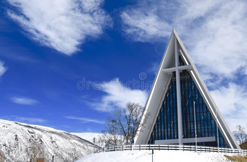 La cattedrale artica fotografia stock