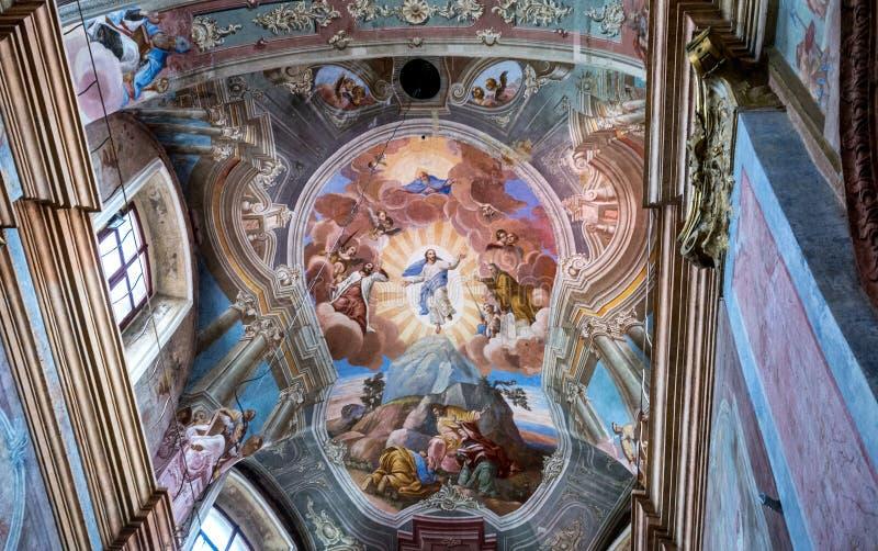 La cattedrale cattolica del presupposto di vergine Maria e della st Stanislaus in Mogilev belarus fotografia stock libera da diritti