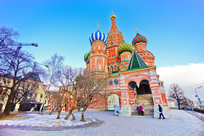 La cattedrale del basilico del san a Mosca fotografia stock libera da diritti