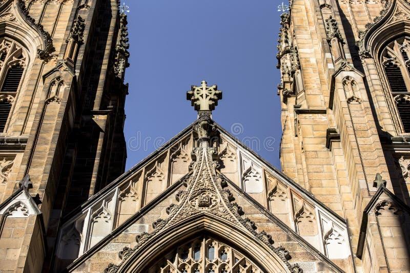 La cattedrale del ` s di St Andrew è la chiesa della cattedrale della diocesi anglicana di Sydney fotografie stock libere da diritti