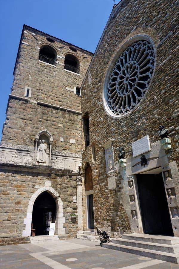 La cattedrale del san Justus a Trieste fotografia stock libera da diritti