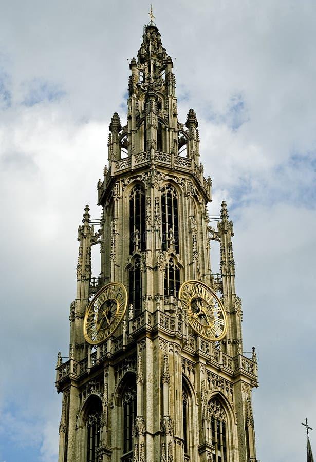 La cattedrale della nostra signora, Anversa, Belgio fotografia stock libera da diritti