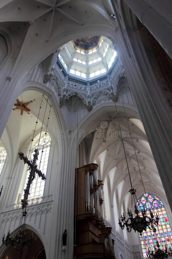 La cattedrale della nostra signora a Anversa, Belgio immagine stock libera da diritti