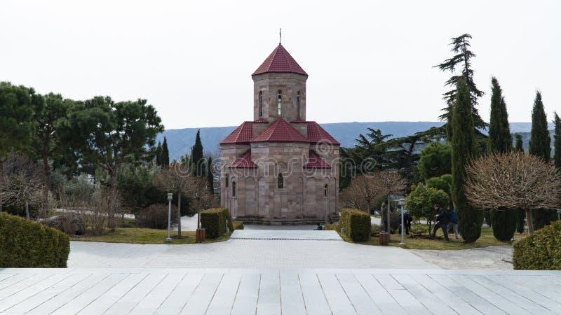 La cattedrale della trinità santa in Georgia fotografia stock libera da diritti