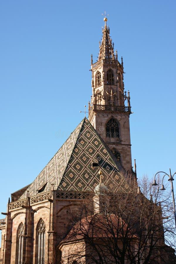 La cattedrale di Bolzano fotografia stock