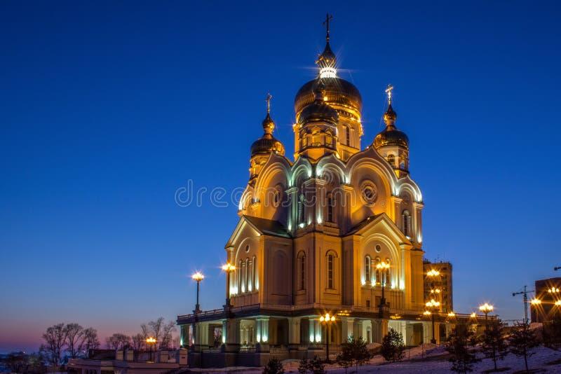 La cattedrale di Chabarovsk fotografie stock