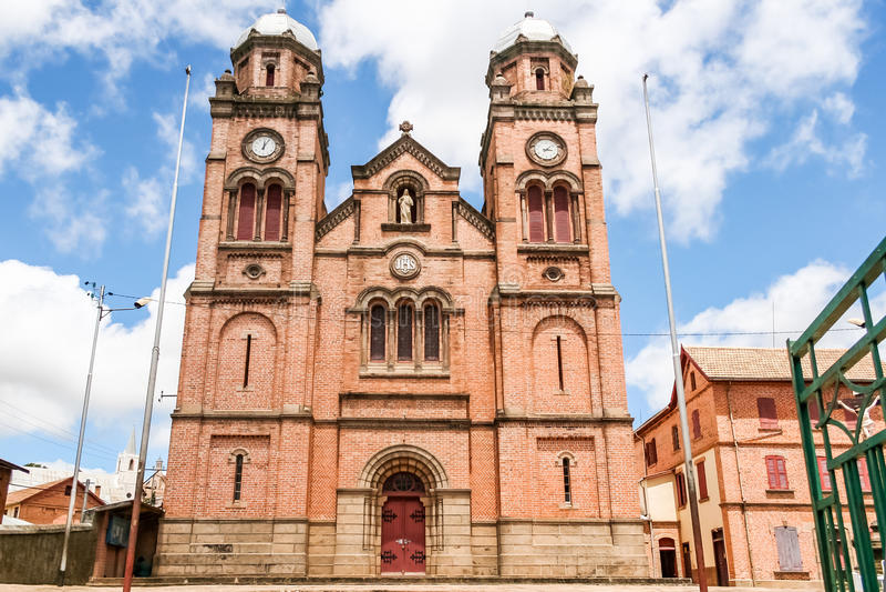La cattedrale di Fianarantsoa fotografie stock libere da diritti