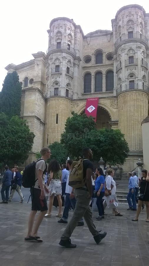 La cattedrale di Malagafotografia stock libera da diritti