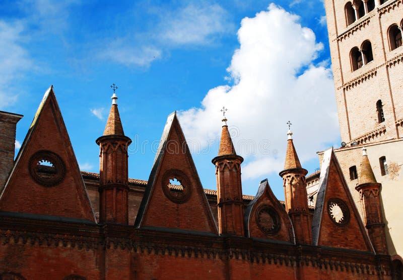 La cattedrale di Mantova fotografie stock libere da diritti