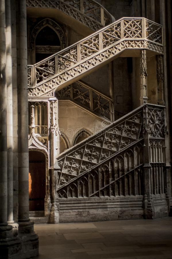 La Cattedrale di Notre-Dame Rouen, Normandia Francja obraz stock