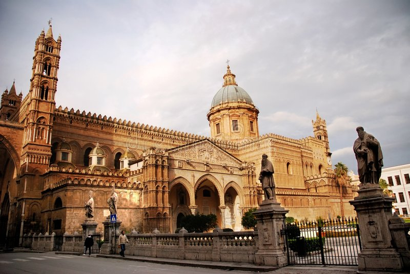 La cattedrale di Palermo fotografie stock