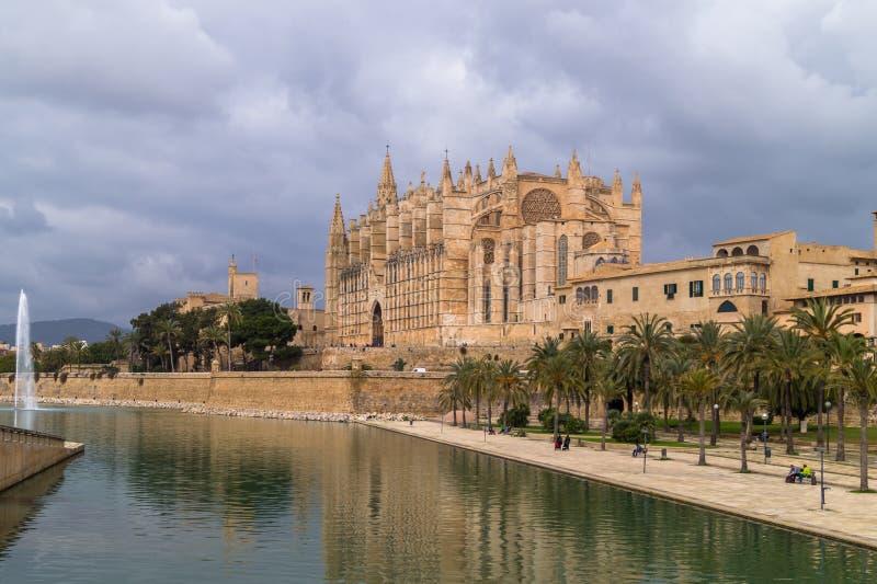 La cattedrale di Palma de Majorca immagini stock