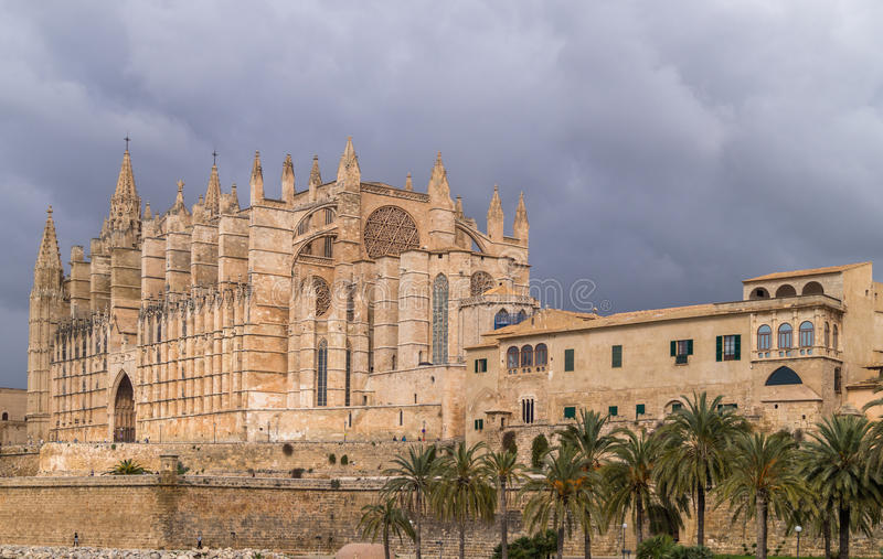 La cattedrale di Palma de Majorca fotografia stock