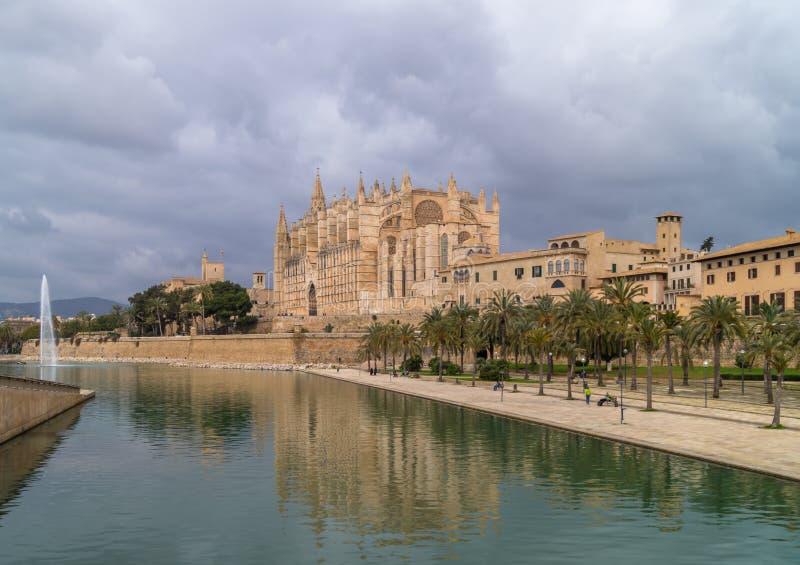 La cattedrale di Palma de Majorca fotografia stock libera da diritti