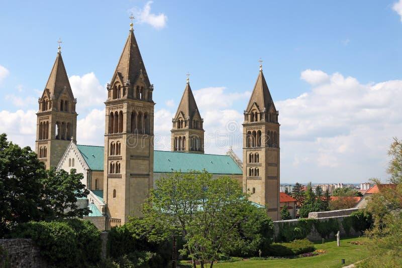 La cattedrale di Pecs Ungheria immagini stock