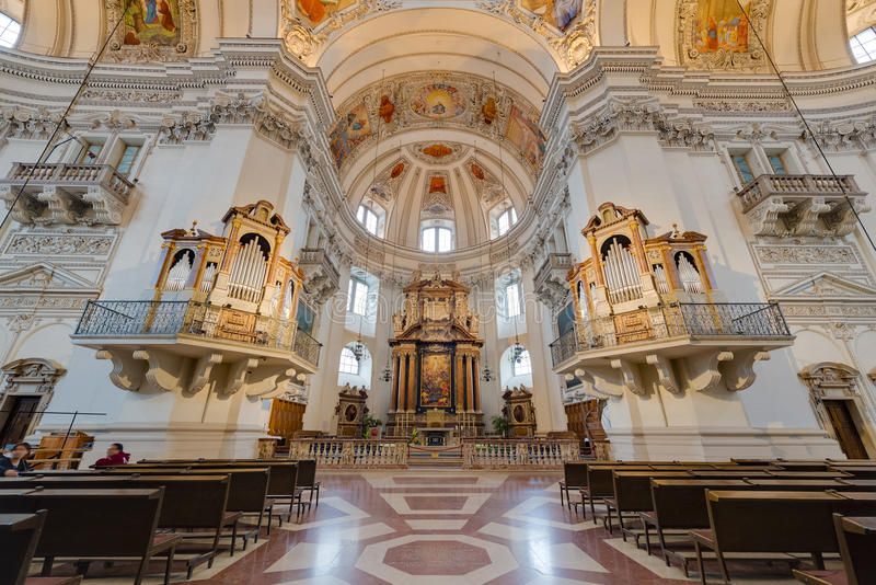 Download La Cattedrale Di Salisburgo (DOM Di Salzburger) A Salisburgo, Austria Immagine Editoriale - Immagine di gamma, rupert: 55352525