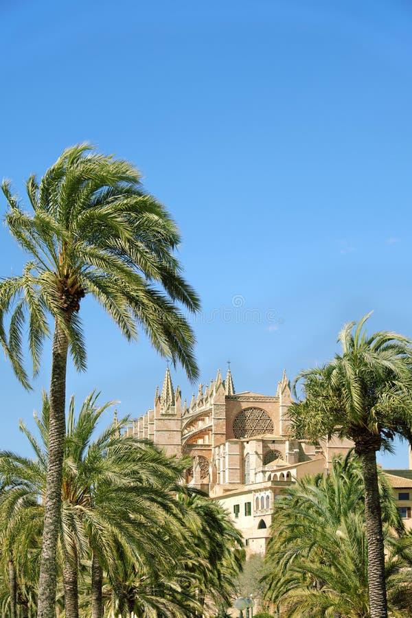 La cattedrale di Santa Maria di Palma de Mallorca, Spagna immagini stock libere da diritti