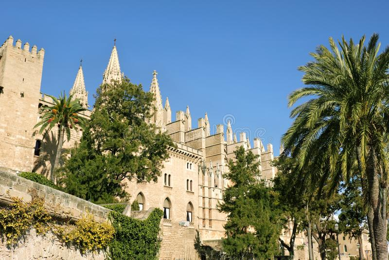 La cattedrale di Santa Maria di Palma de Mallorca, Spagna immagine stock