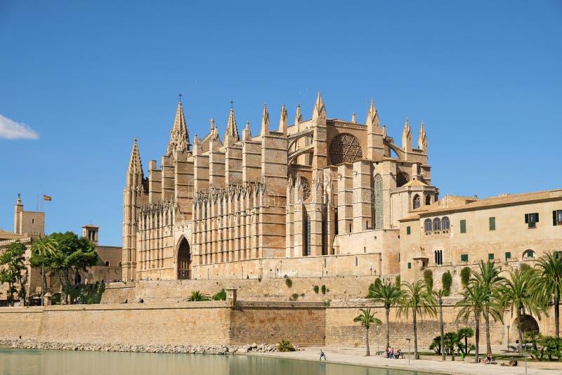La cattedrale di Santa Maria di Palma de Mallorca, Spagna fotografia stock libera da diritti