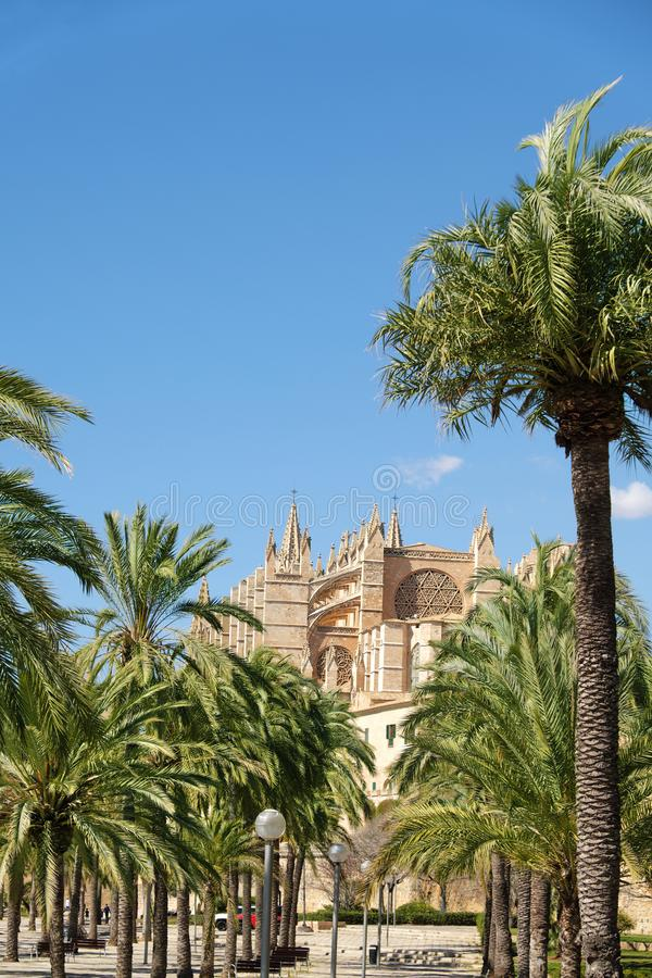 La cattedrale di Santa Maria di Palma de Mallorca, Spagna fotografia stock