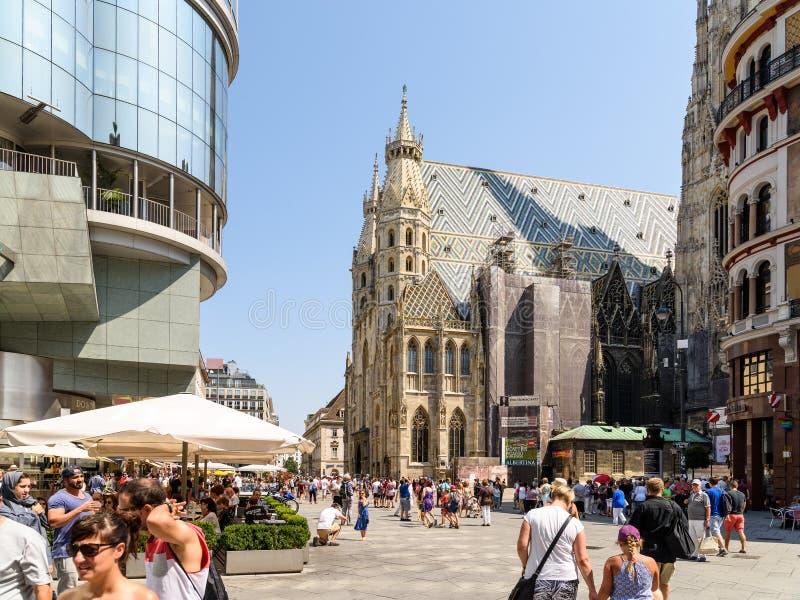 La cattedrale di Santo Stefano (Stephansdom) fotografia stock