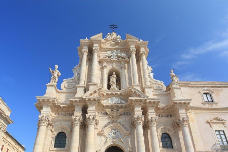 La cattedrale di Siracusa immagini stock