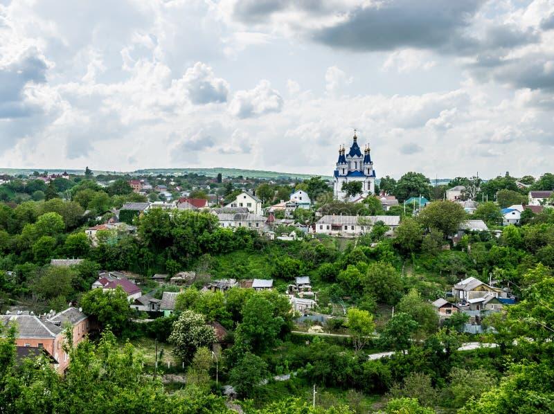 La cattedrale di St George in Kamianets-Podilskyi fotografie stock libere da diritti