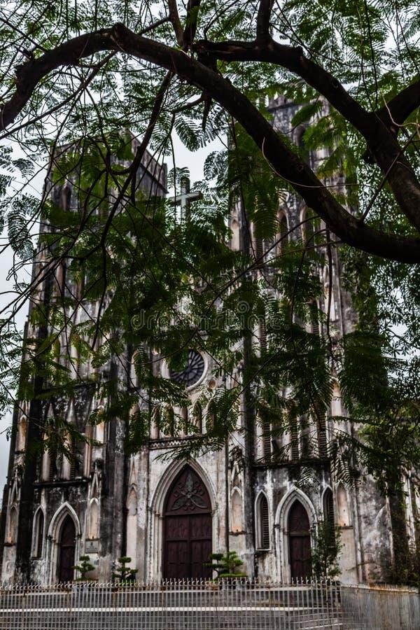 La cattedrale di St Joseph, Hanoi, Vietnam fotografia stock