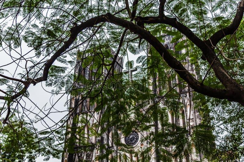 La cattedrale di St Joseph, Hanoi, Vietnam immagine stock